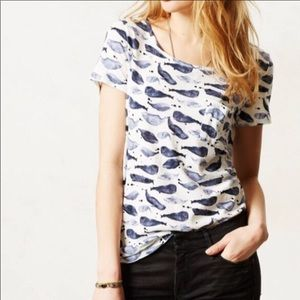 Anthropologie whale tee